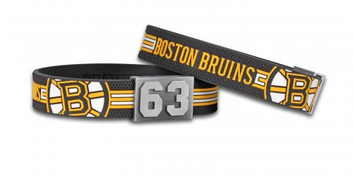 Boston Bruins braclet in front of a white background