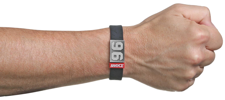 motor sports bracelet with starting number 96